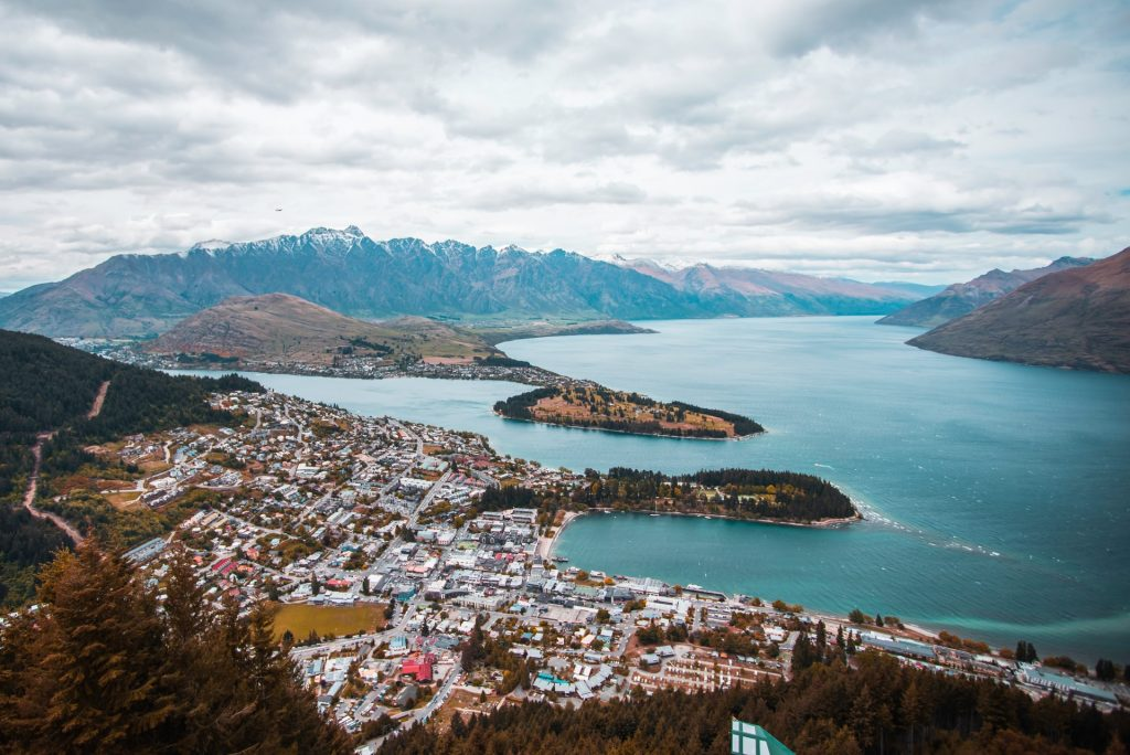 Queenstown city in New Zealand