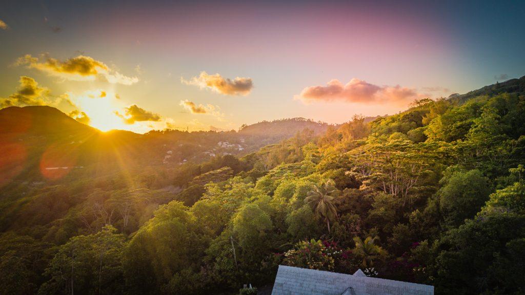 Sunset at Anse Royale, Seychelles