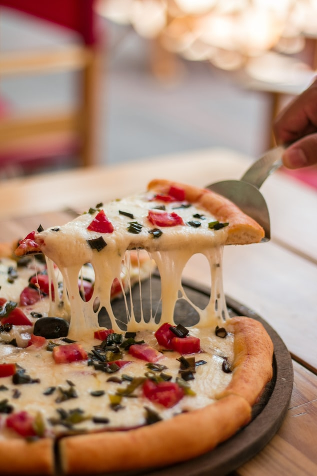 Pizza served on a table