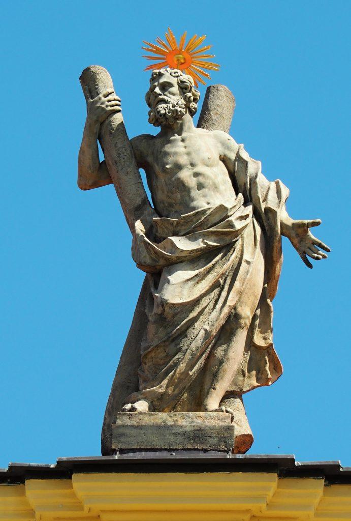 The apostle statue.