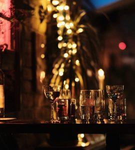 A bar in Santorini