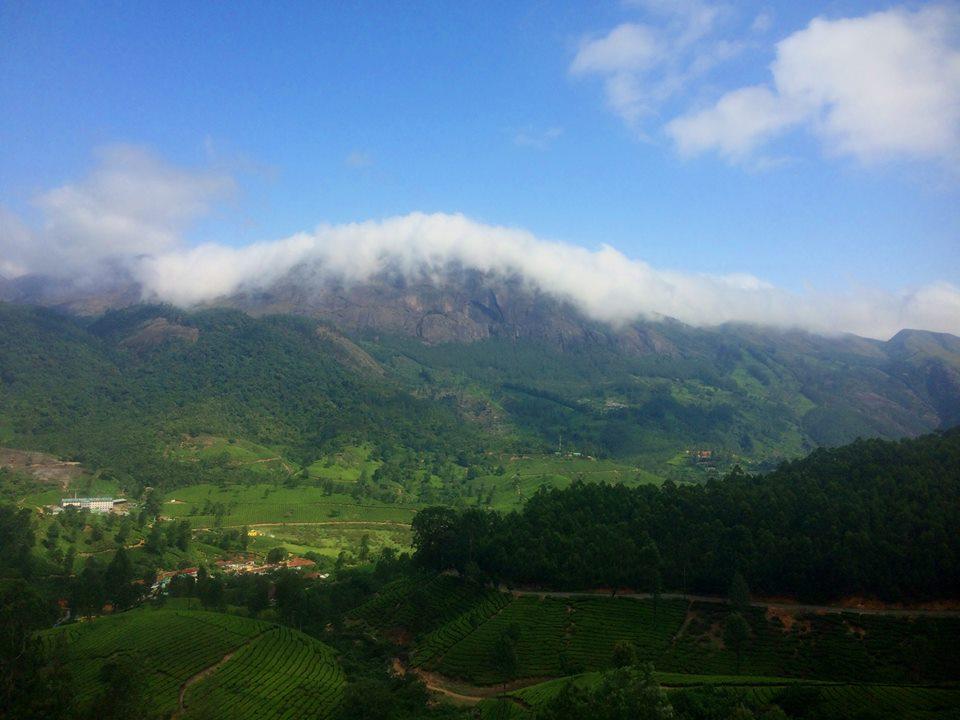 Anamudi Peak, one of the highest peaks in Kerala.