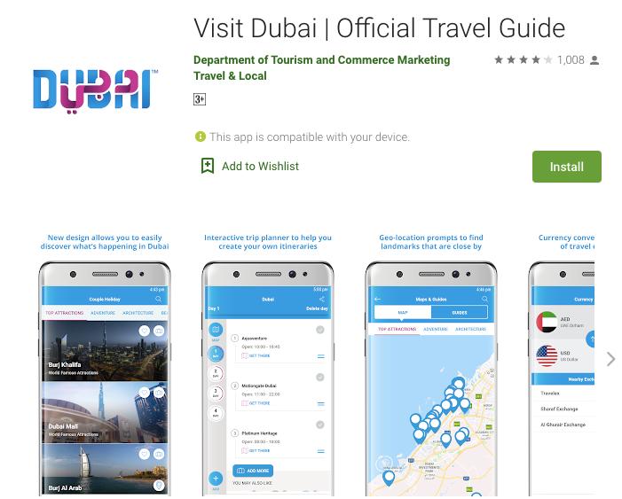 VisitDubai app