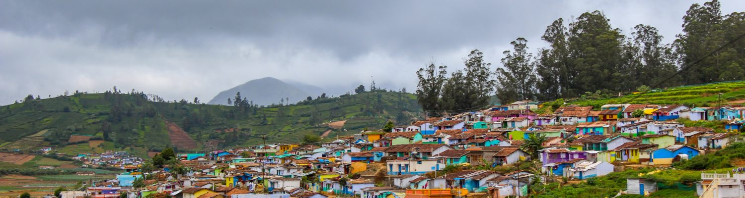 The coloured terrain houses of Ooty