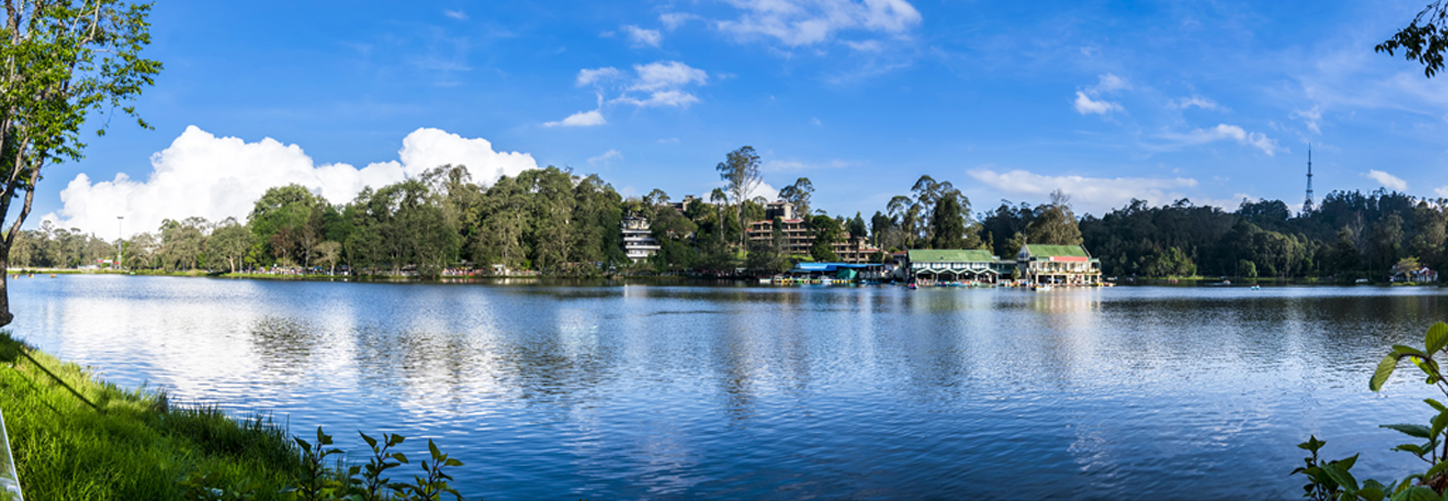 Panaroma of Kodaikanal Lake