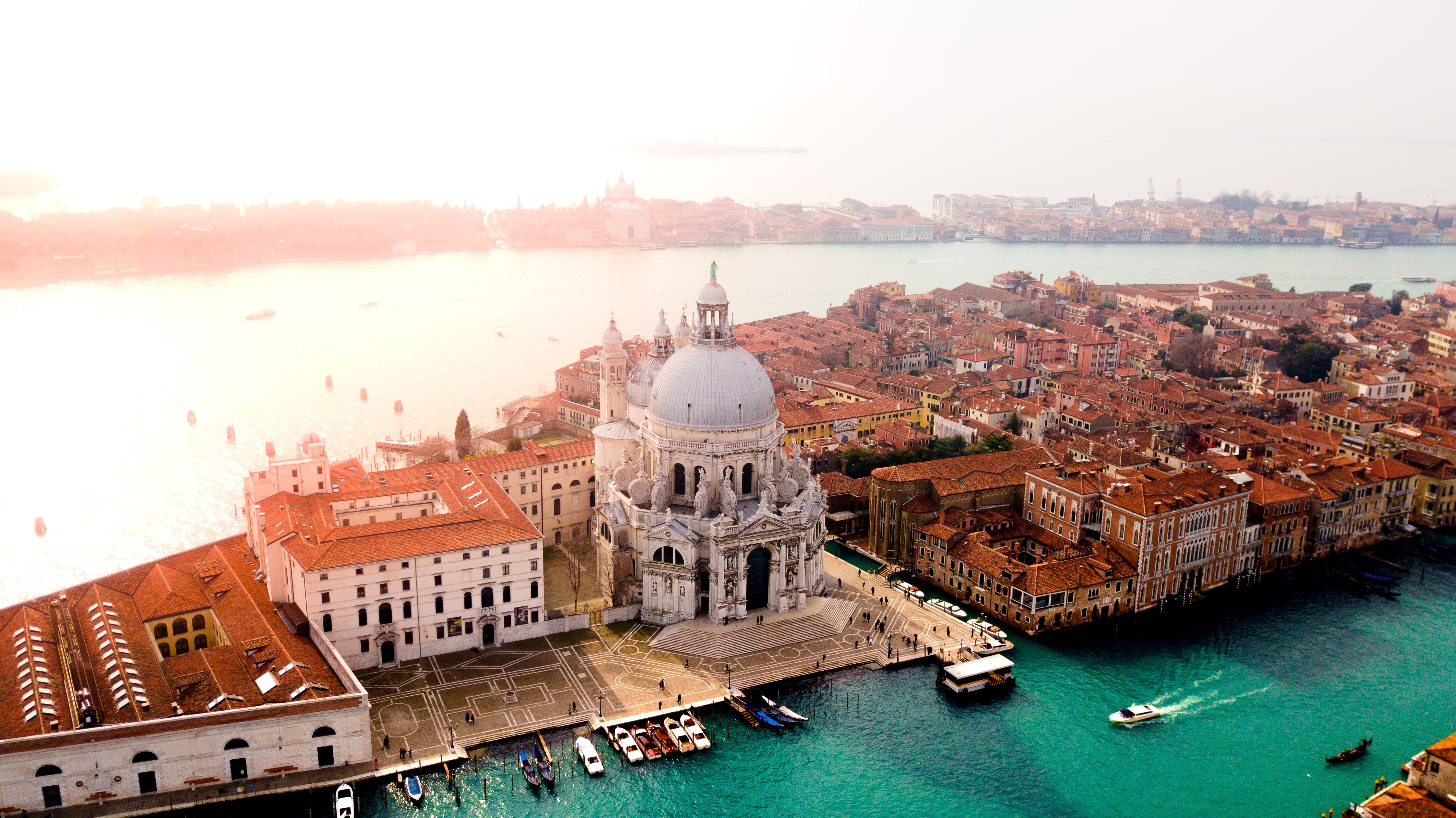Aerial view of Venice in Italy as on August 2018