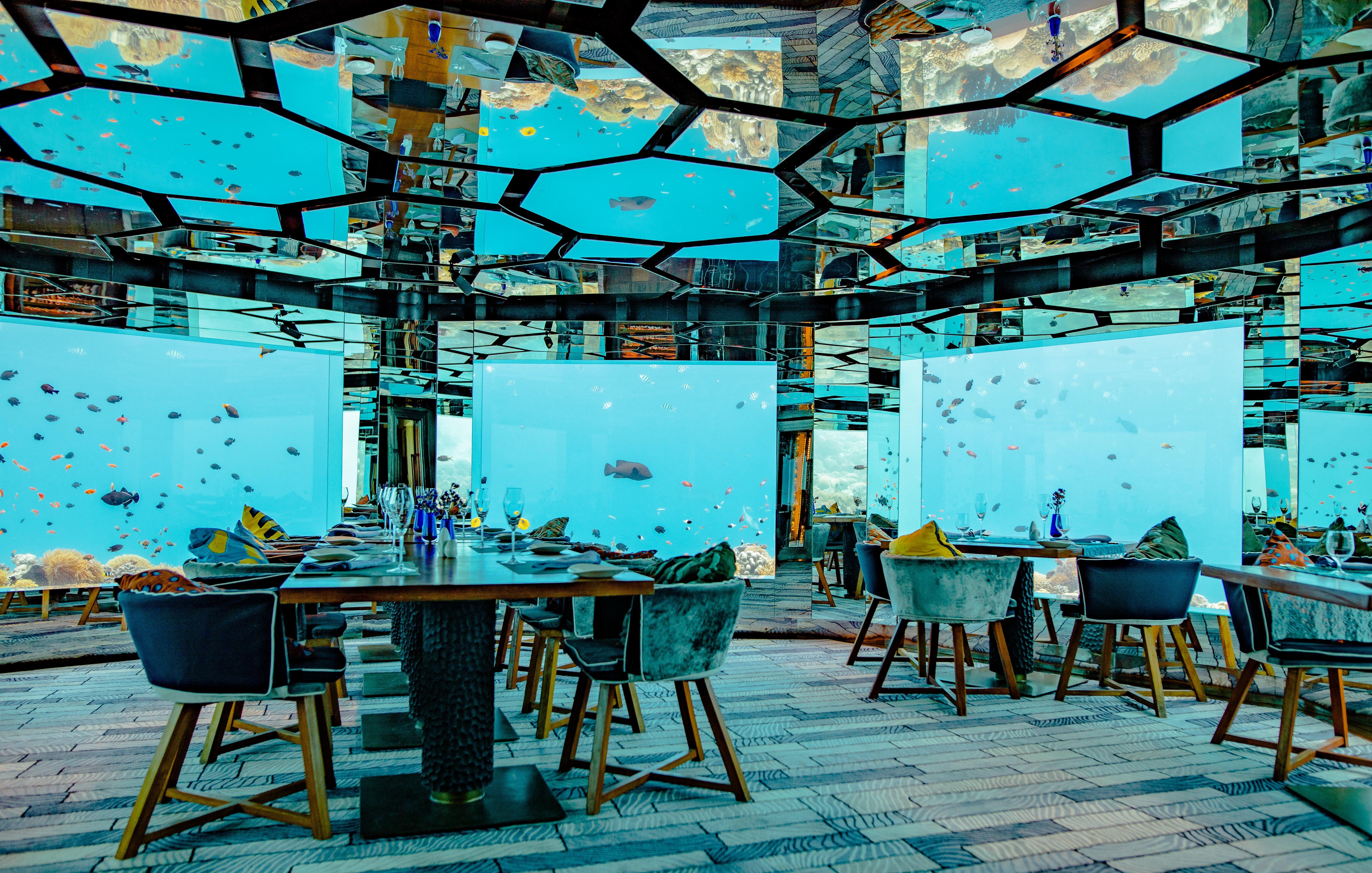 Underwater restaurant Maldives
