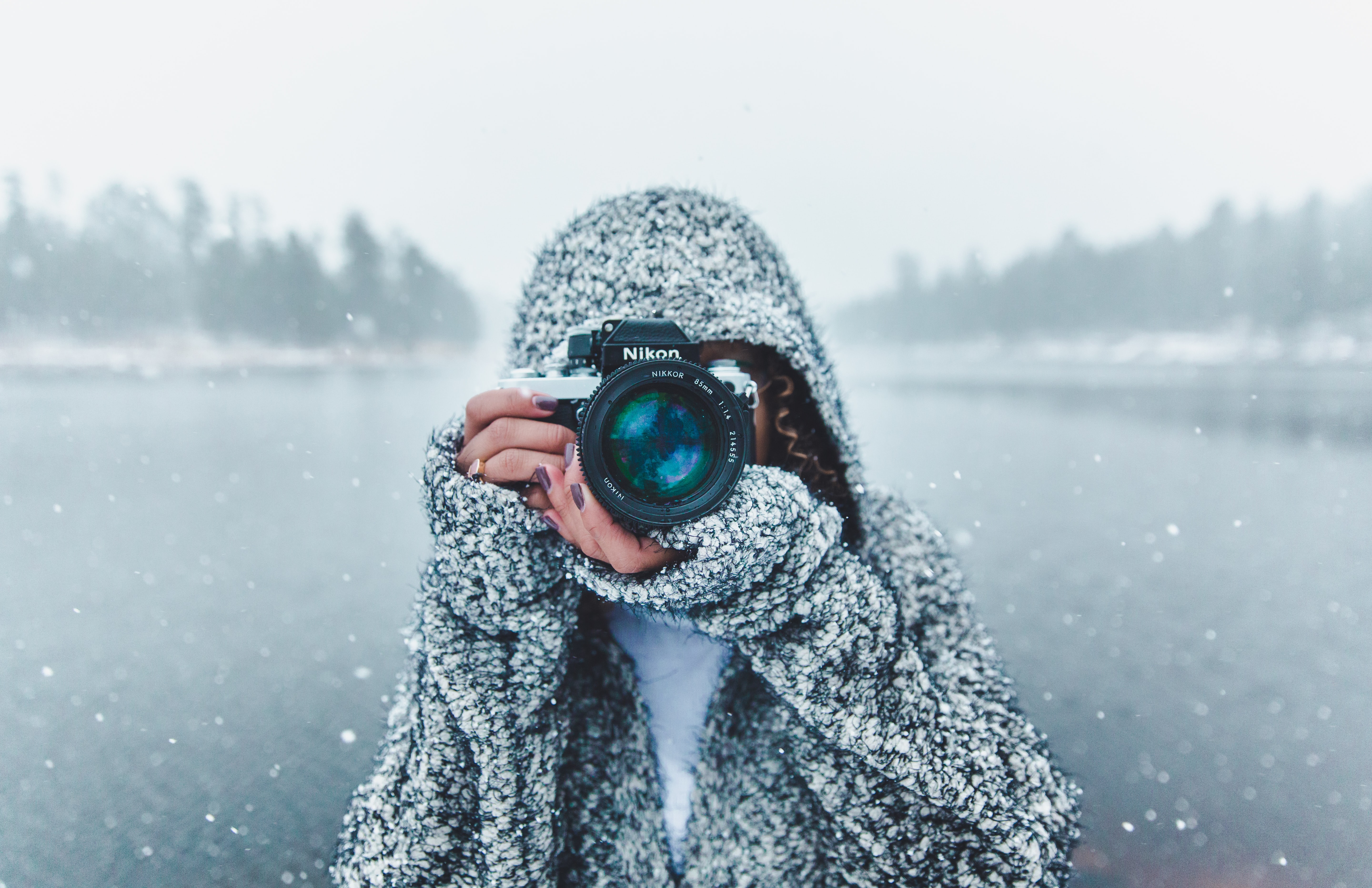 A lady with camera