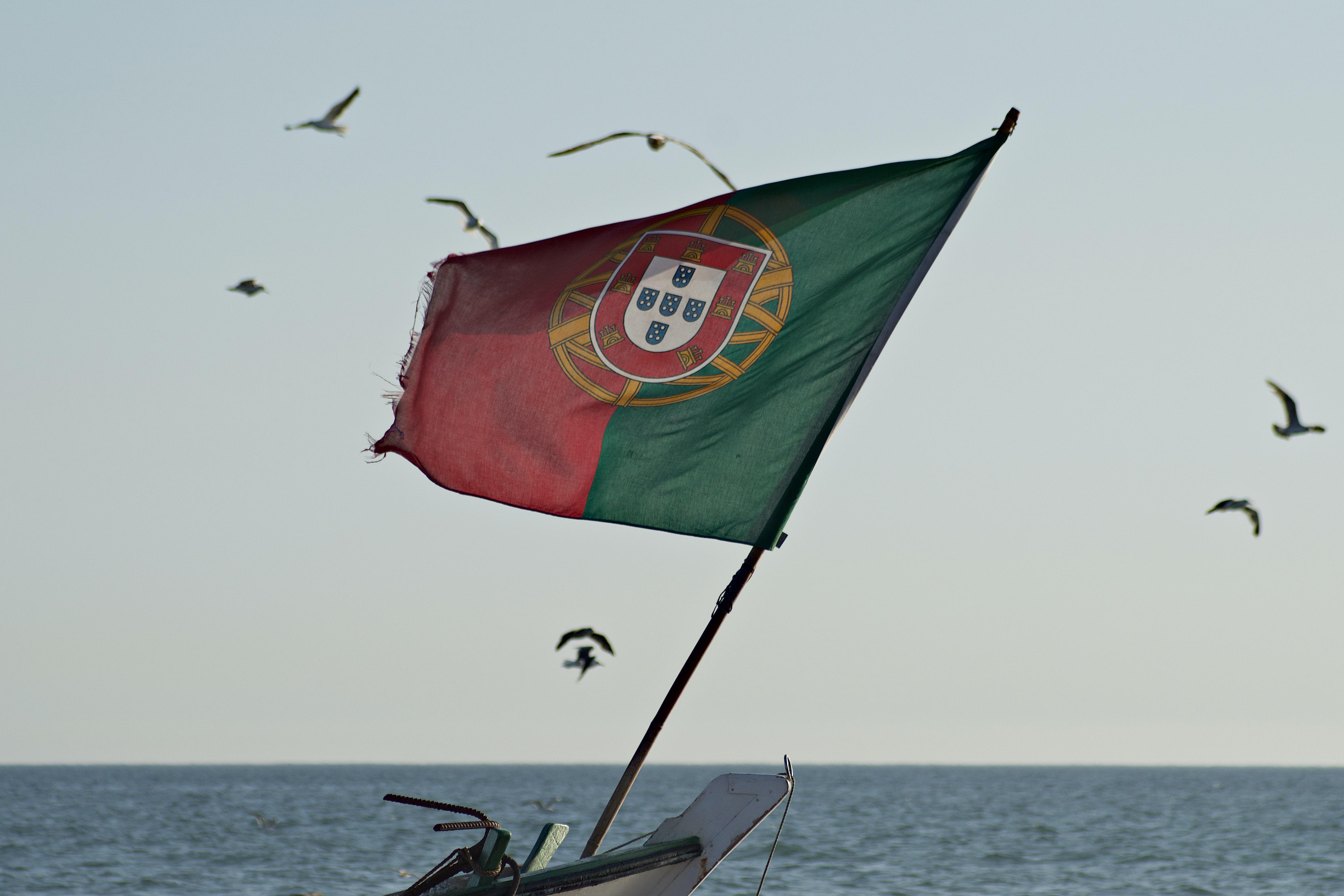 A Portugal flag