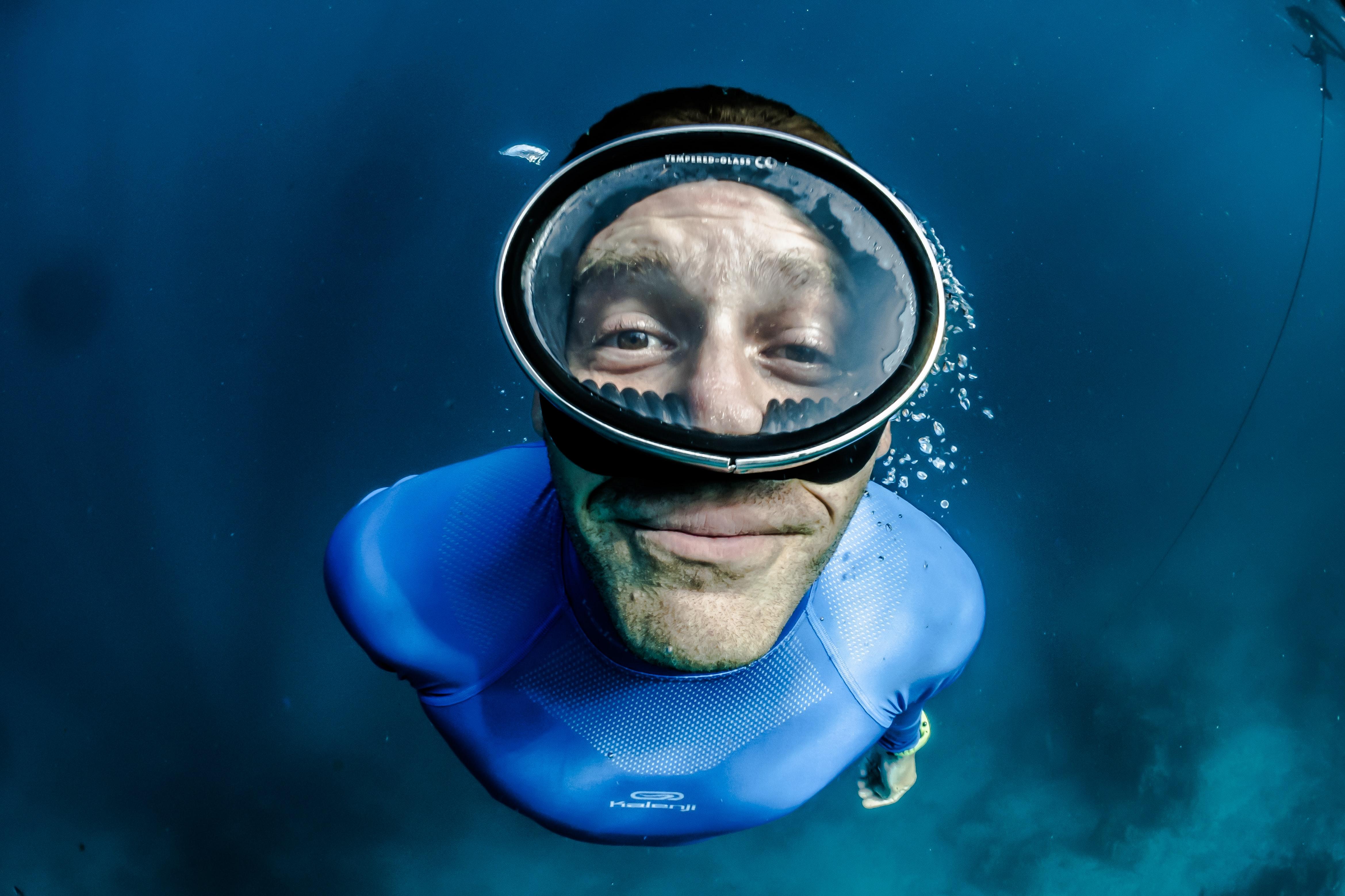 A guy underwater