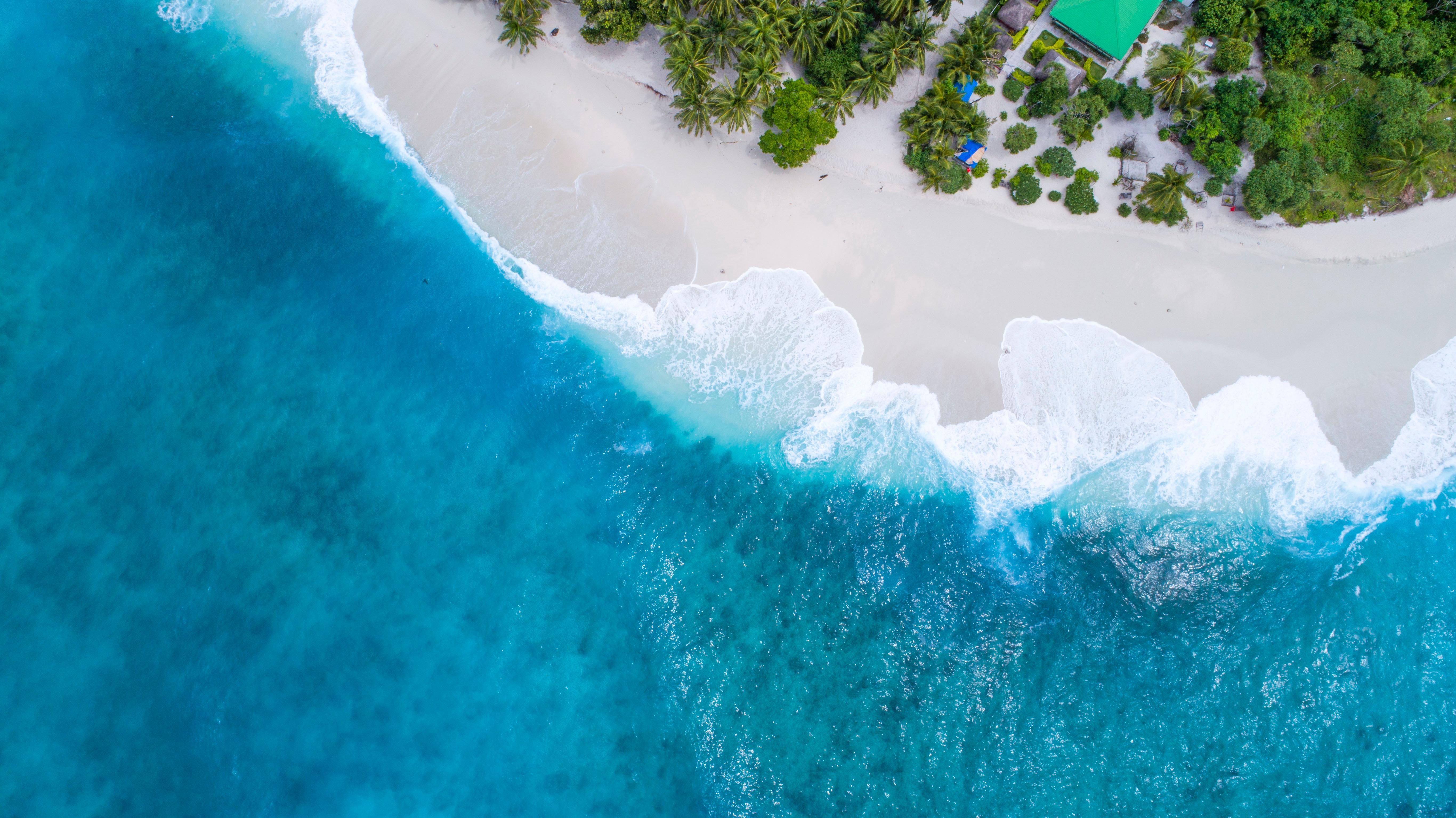 Aerial view of the Maldives beach