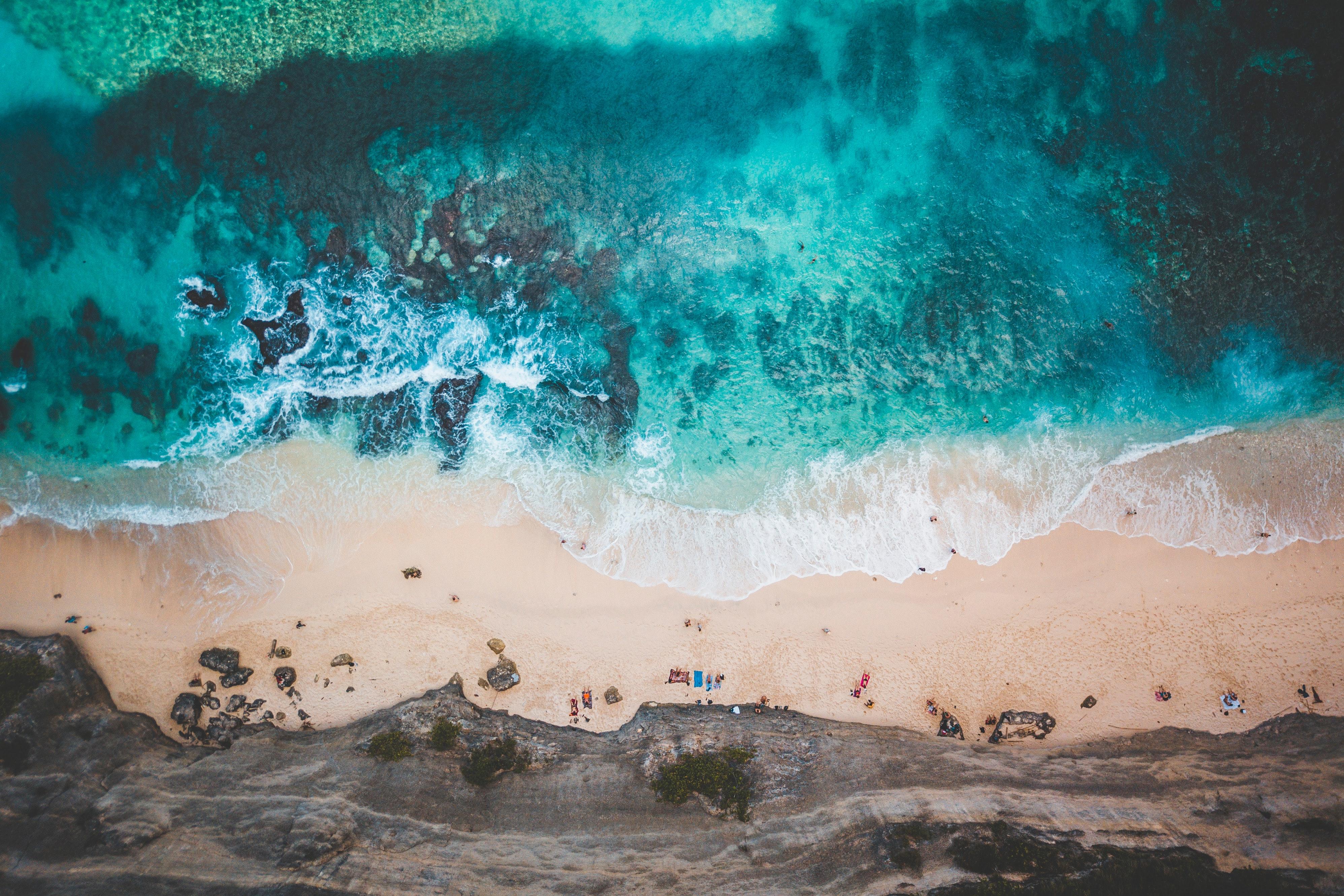 the pic shows beautiful Bali beaches
