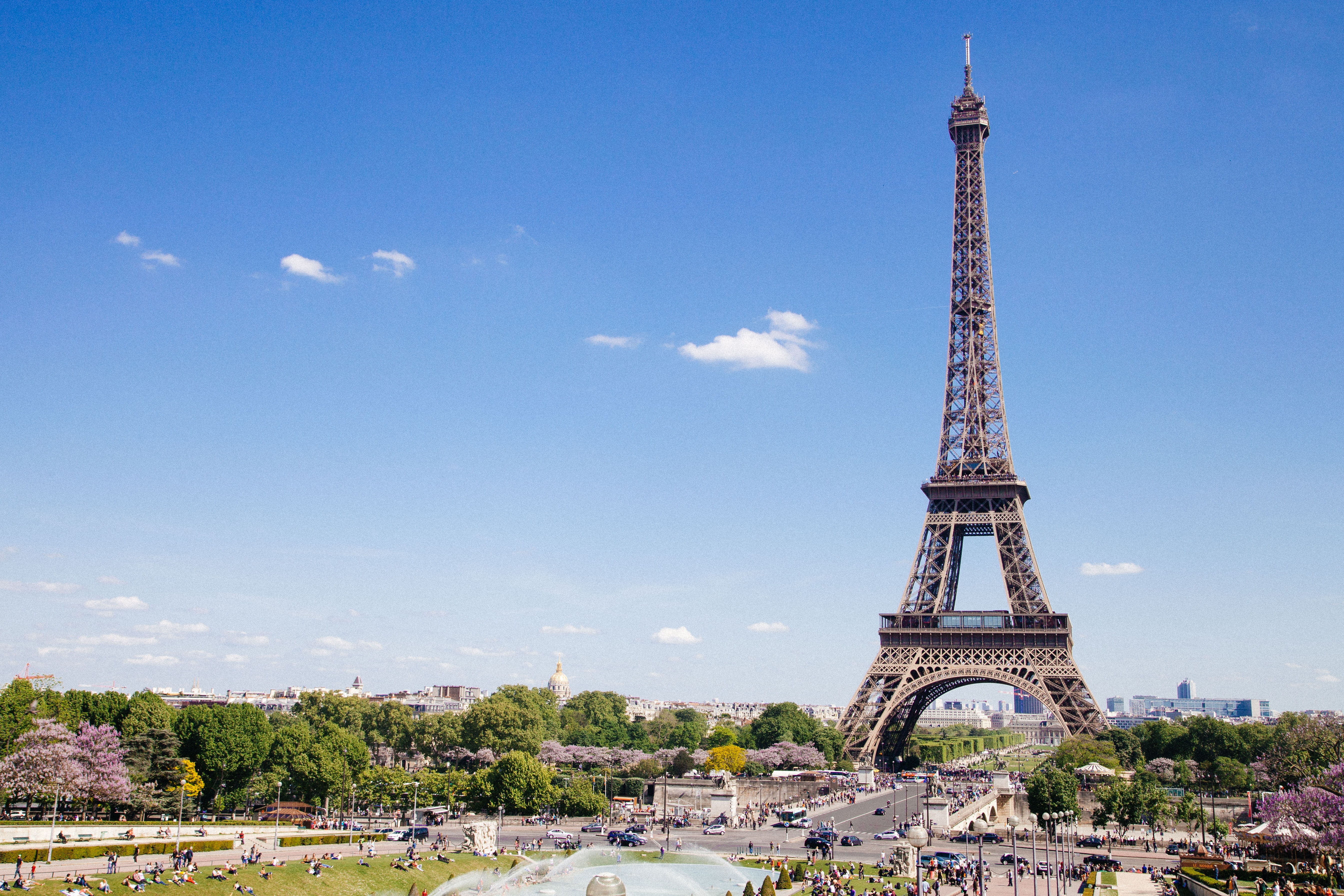 Paris Eiffel Tower, France in August