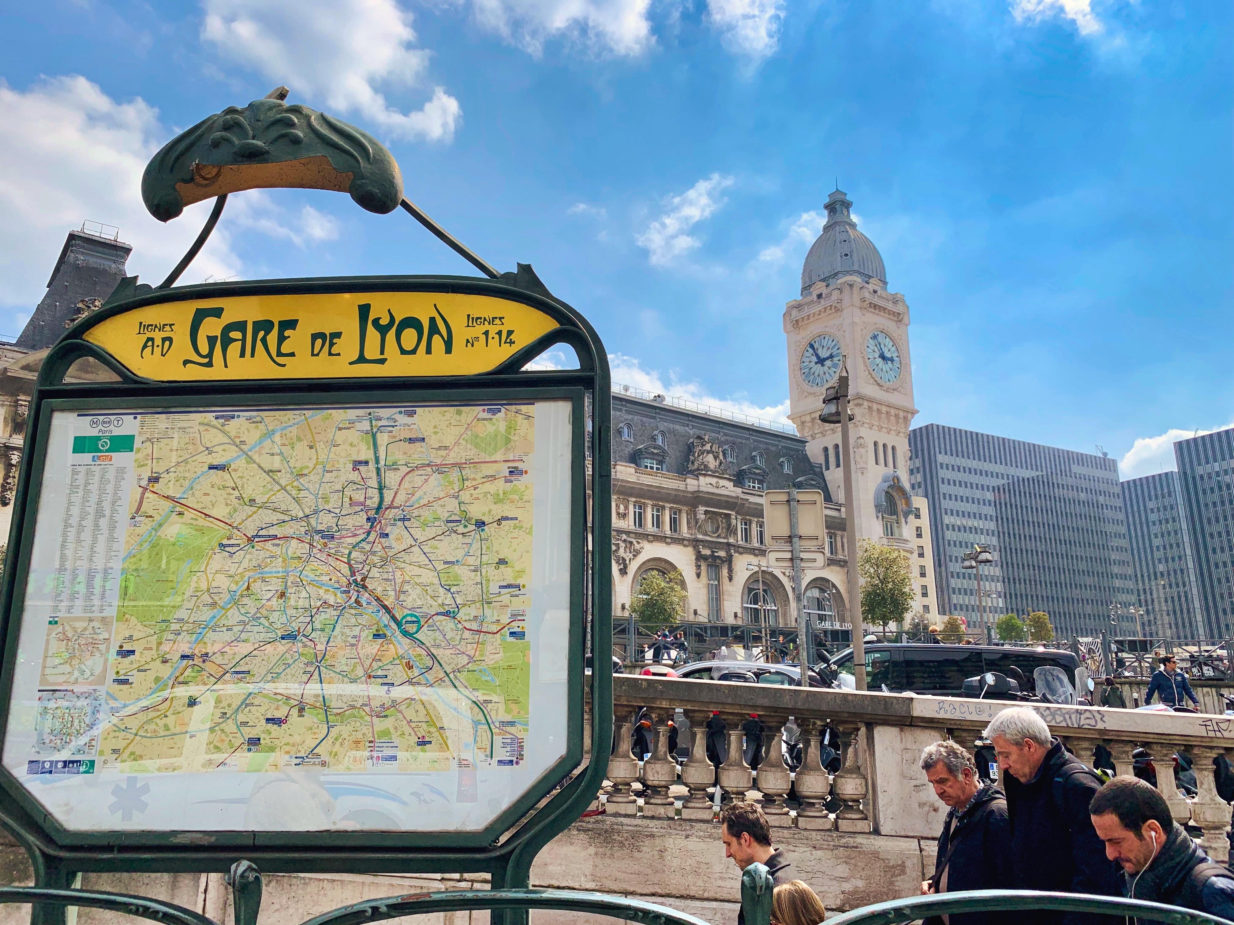 Gare de Lyon, 15 romantic places to visit in Paris