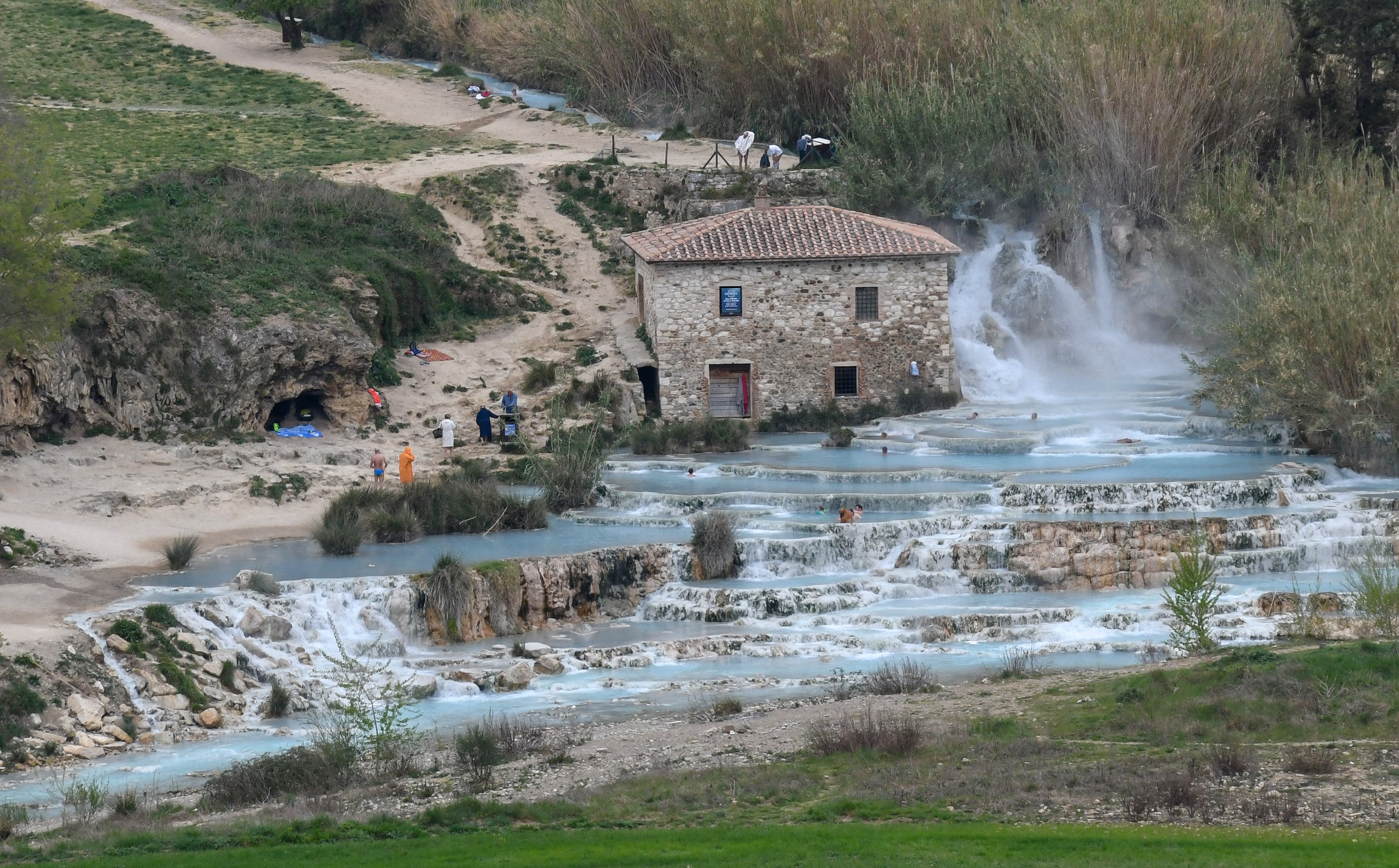 Hot springs in Saturnia, Tuscany, Italy, Honeymoon in Italy Travel Guide