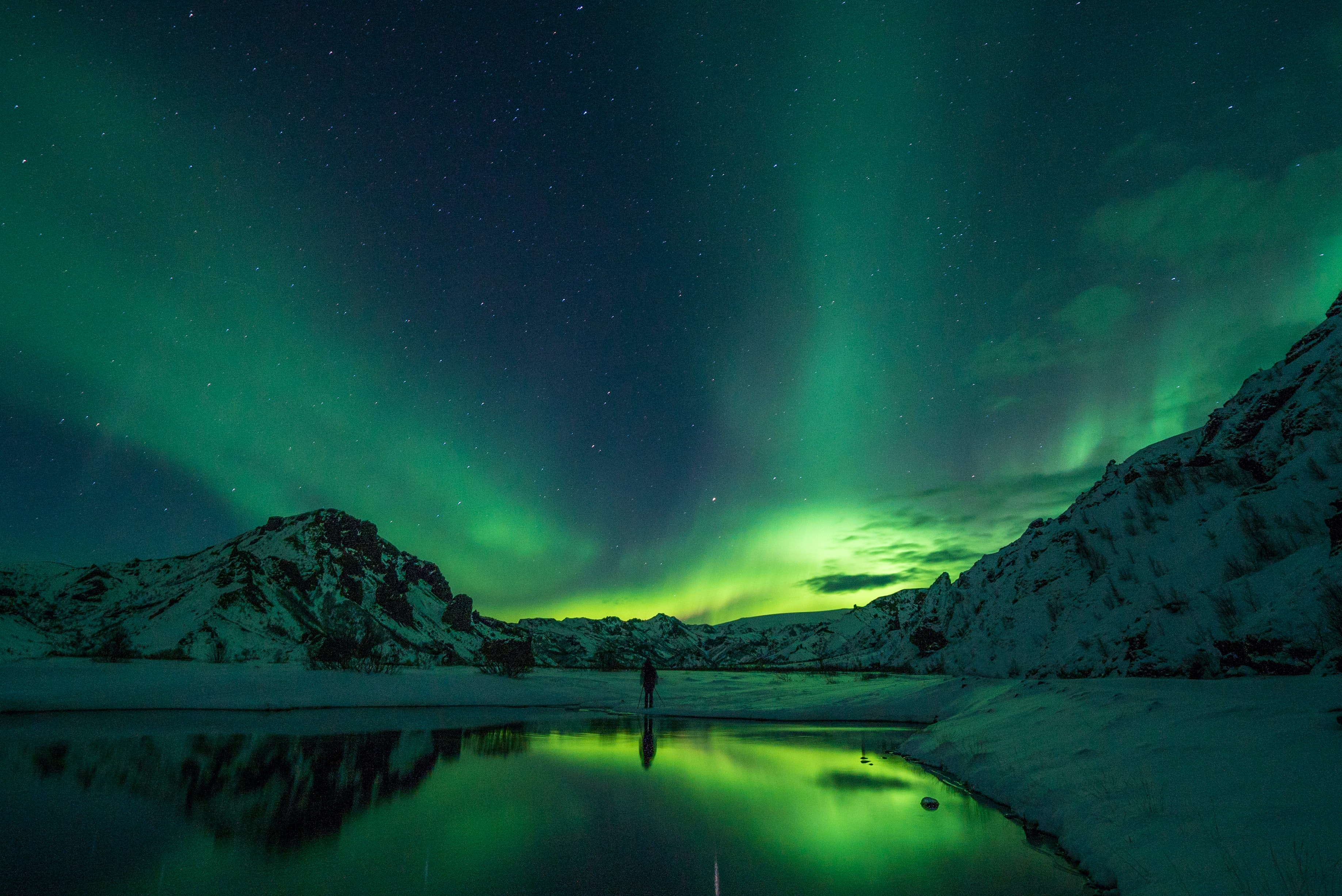 Northern lights, Iceland During Winter
