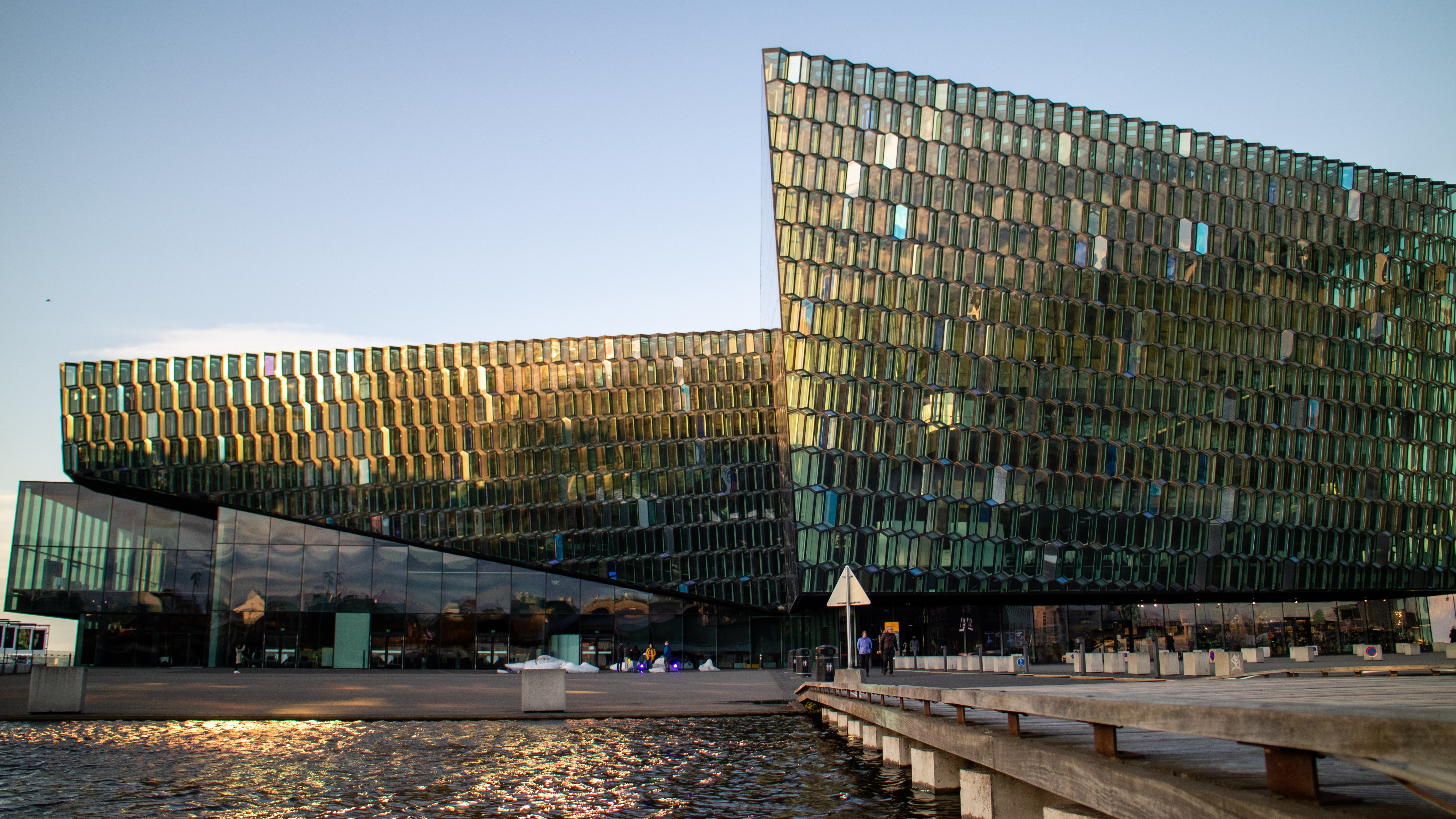 the modern sculpture Harpa  Things to do in Reykjavik