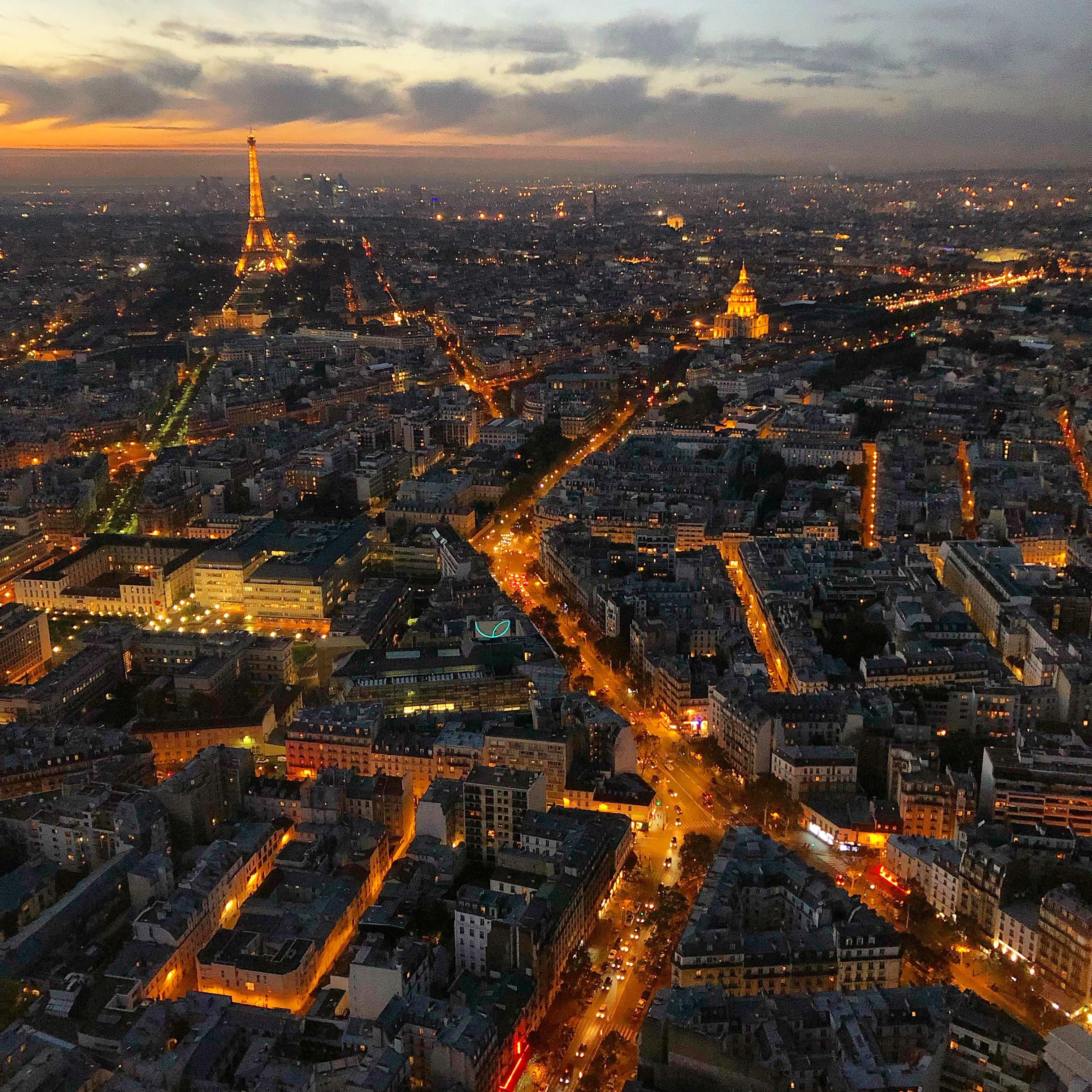 Vista de pájaro en París