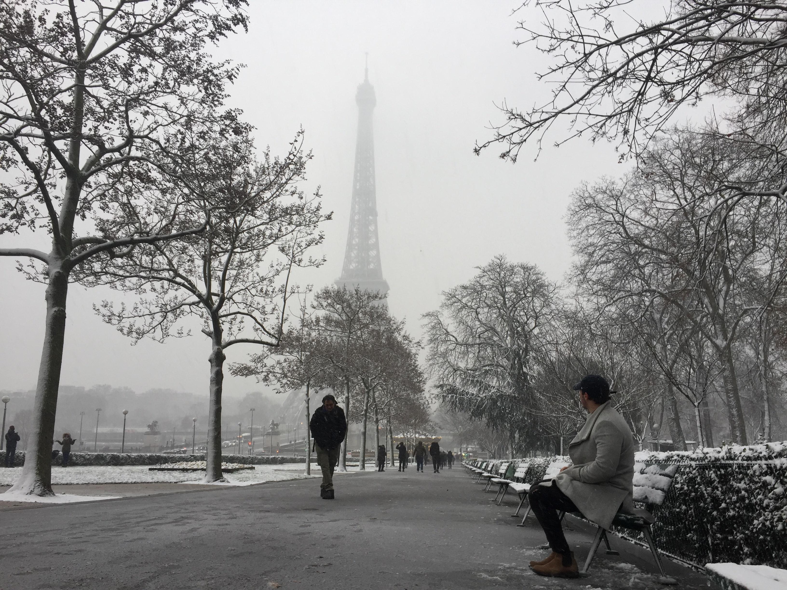 Paris In February Snow