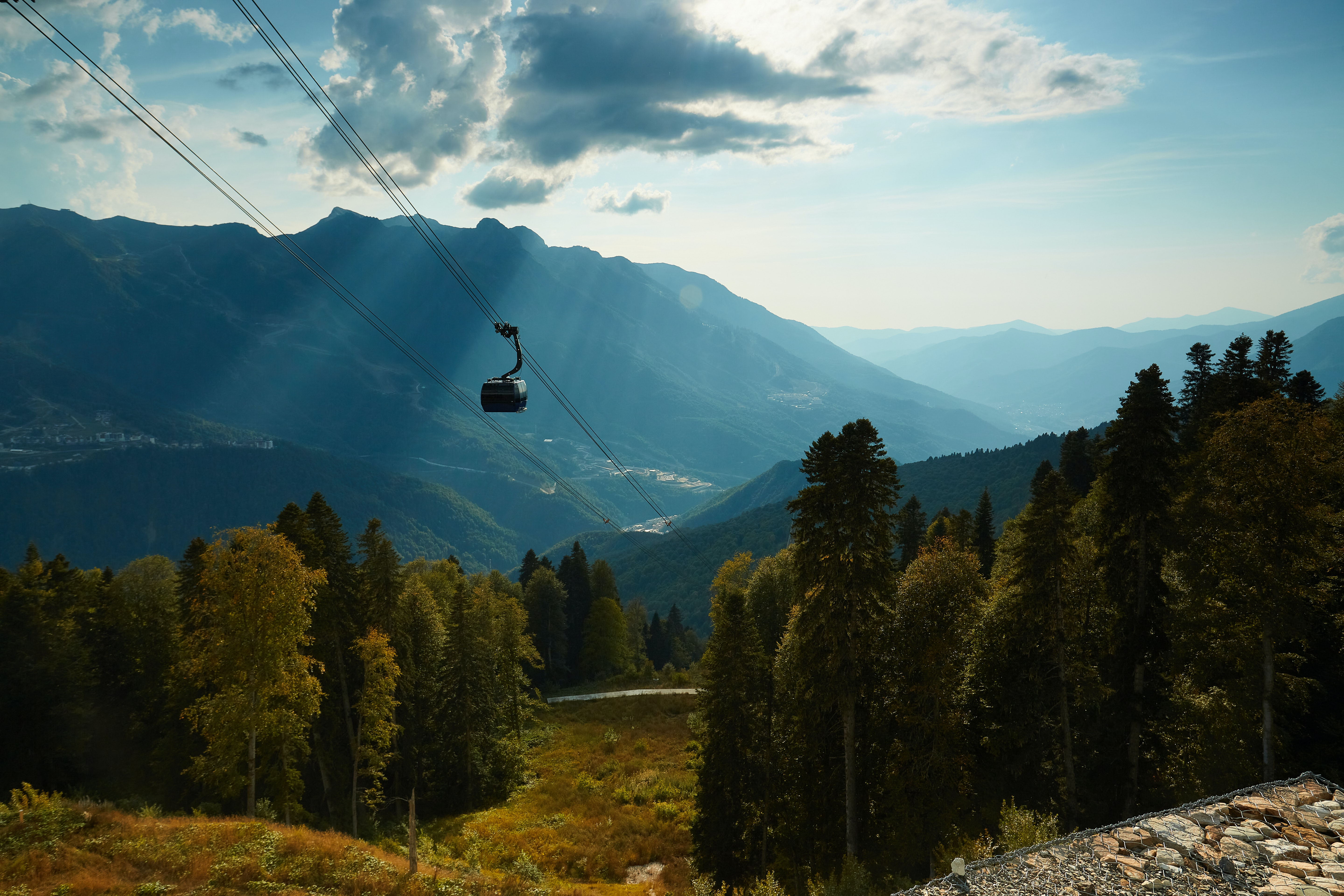 Take the Cable Car to Mürren