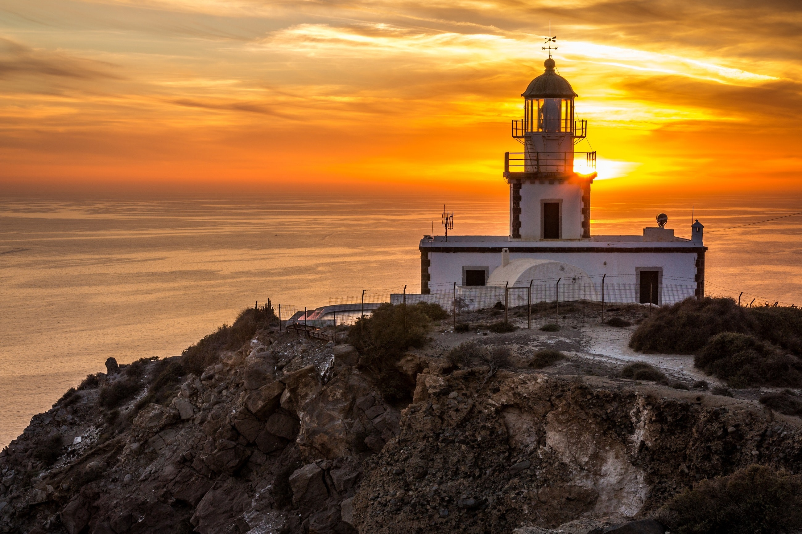 Akrotiri Lighthouse, Best places to watch sunset in Santorini