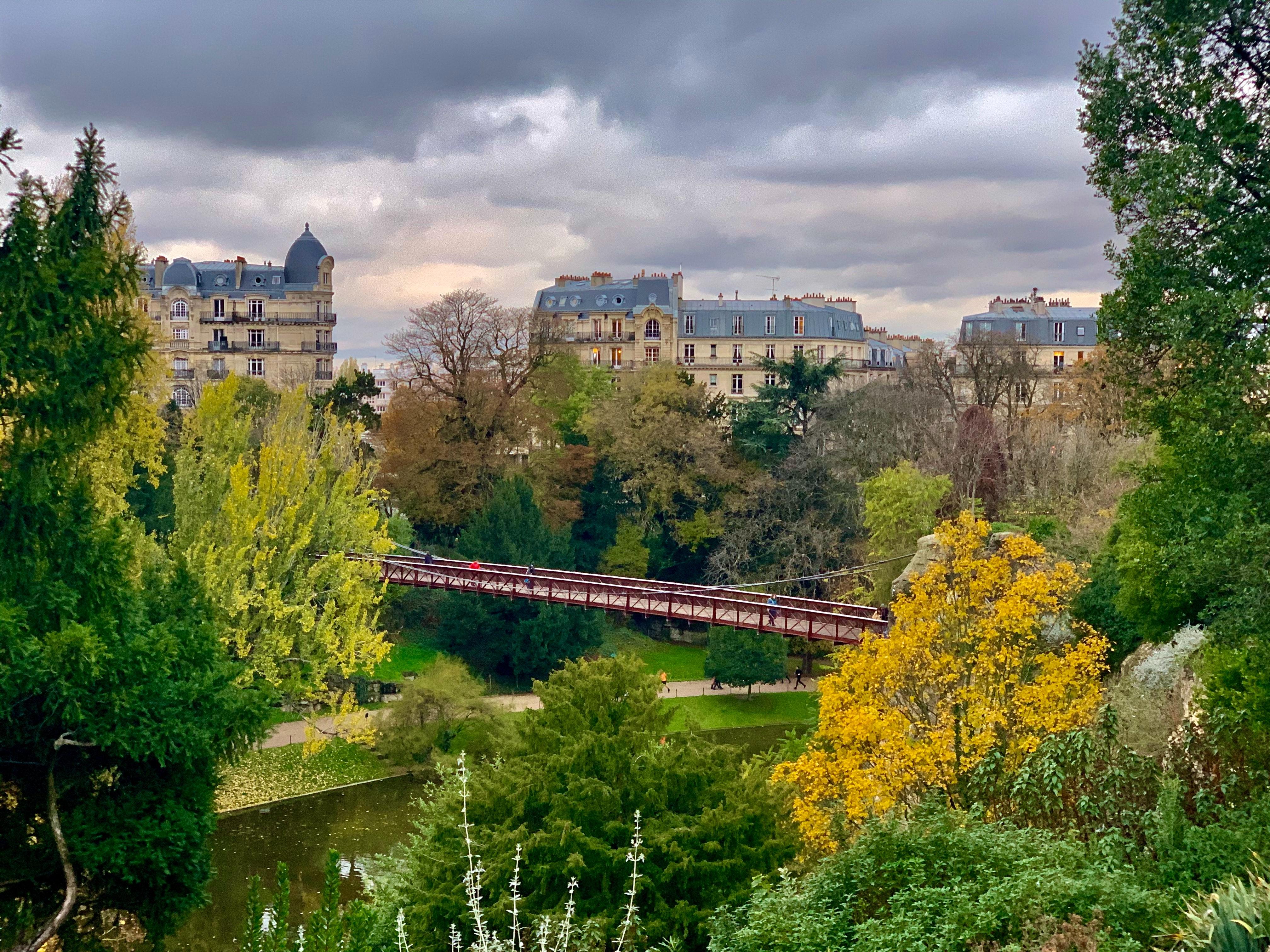 Parc des Buttes-Chaumont, most beautiful parks in Paris, France