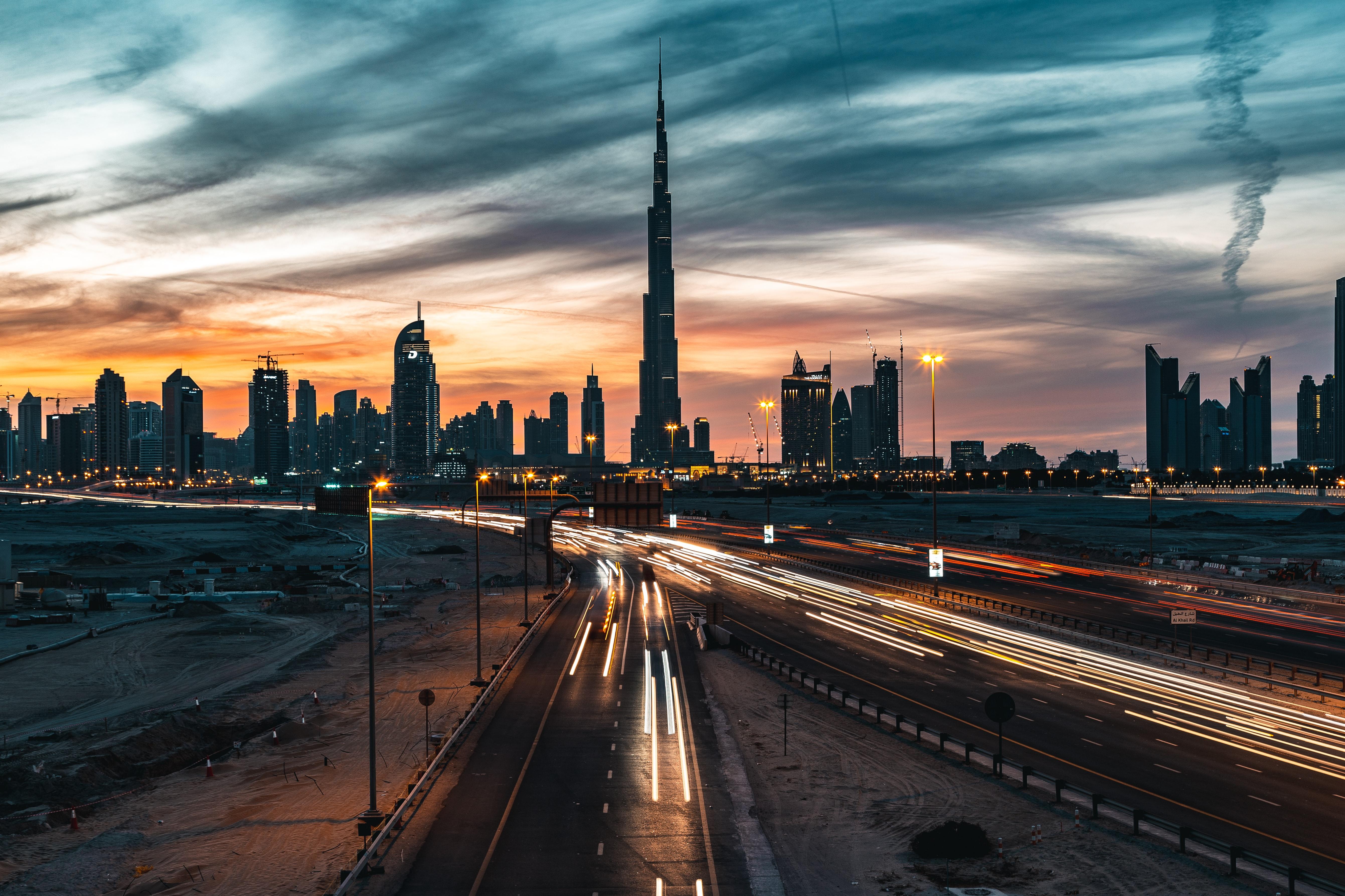 Dubai From Delhi Through Roads