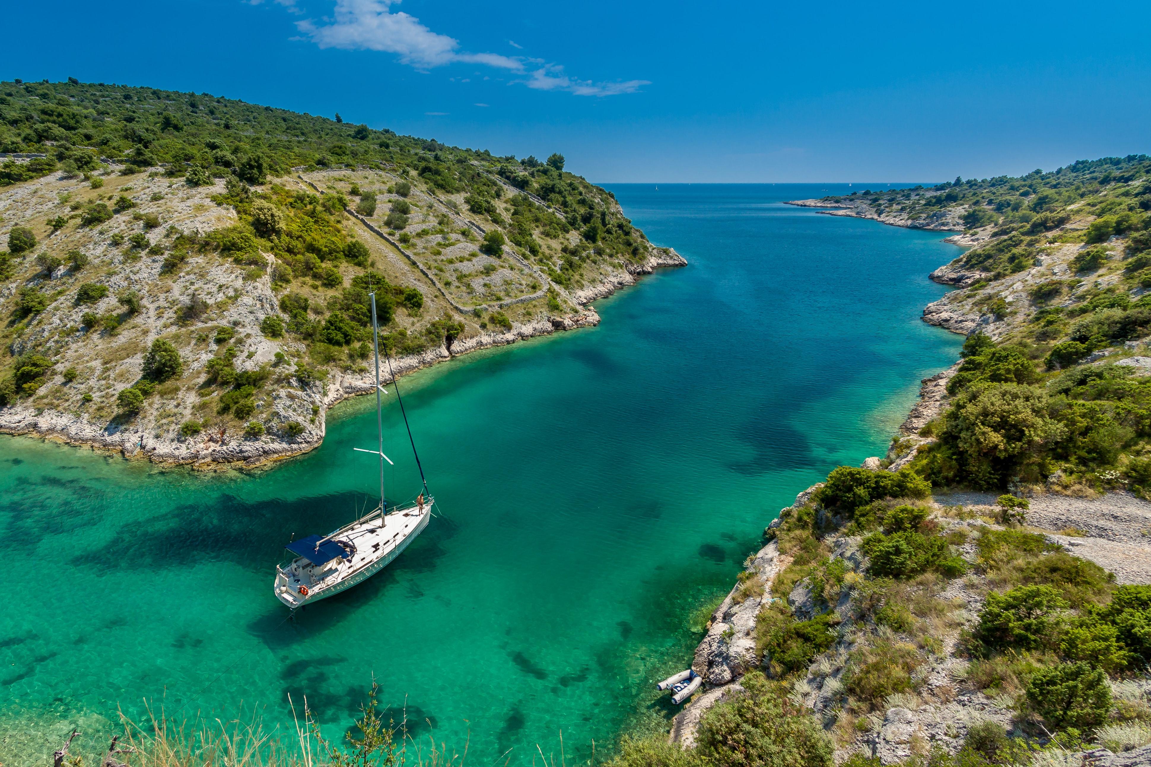Travel by boat in Trogir, Croatia