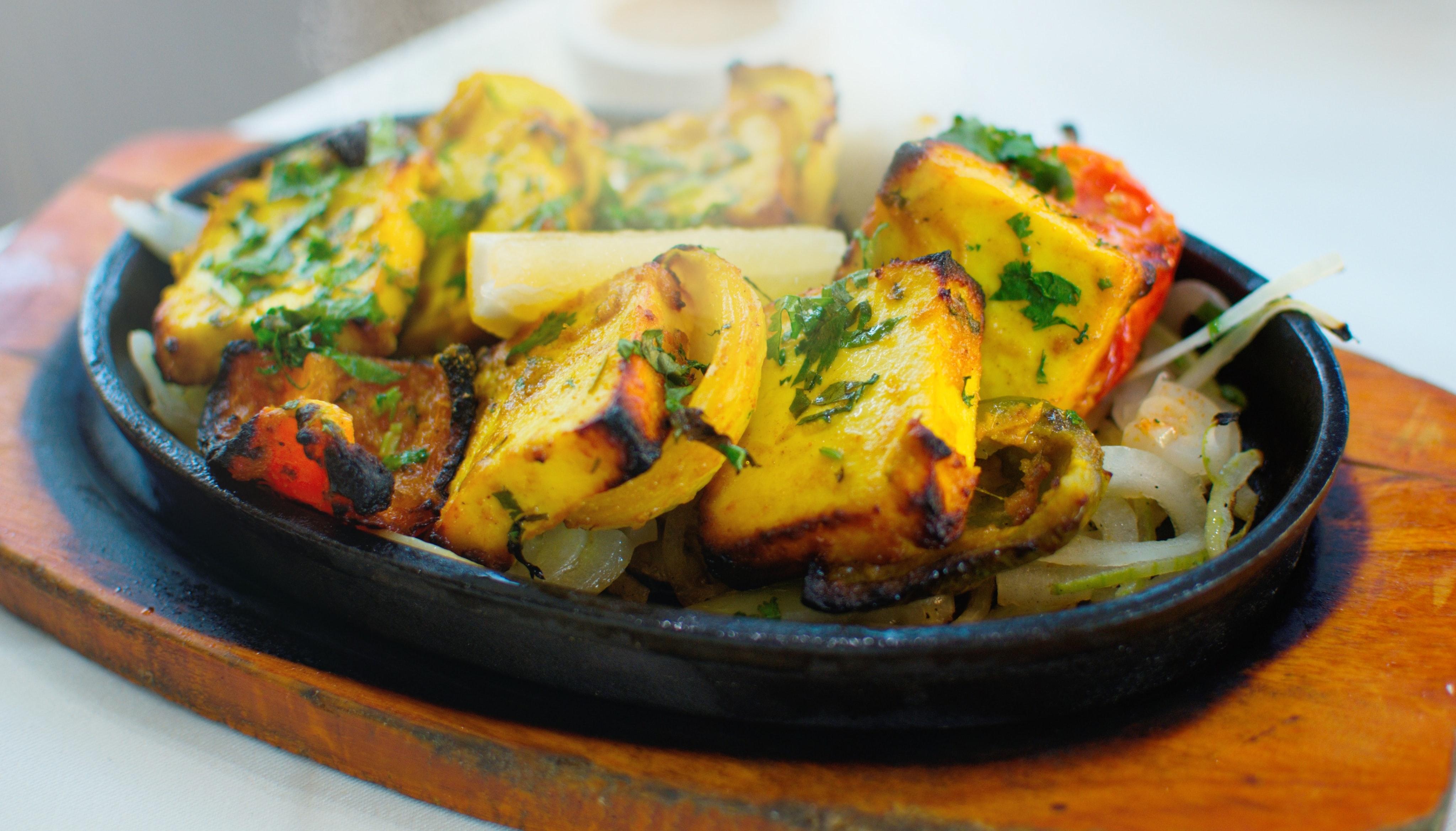 Paneer Tikka, Indian food in Germany