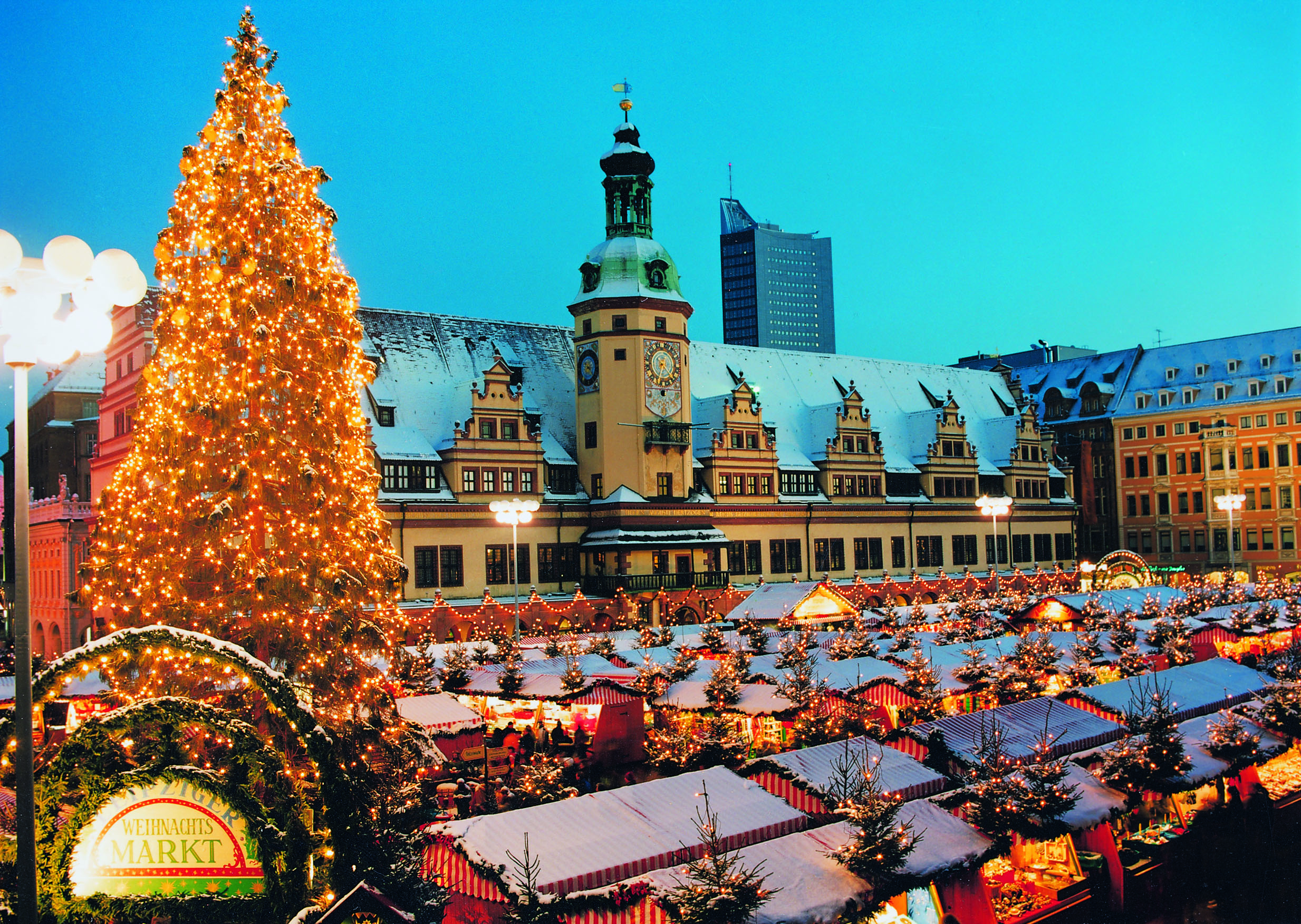 christmas markets, leipzig