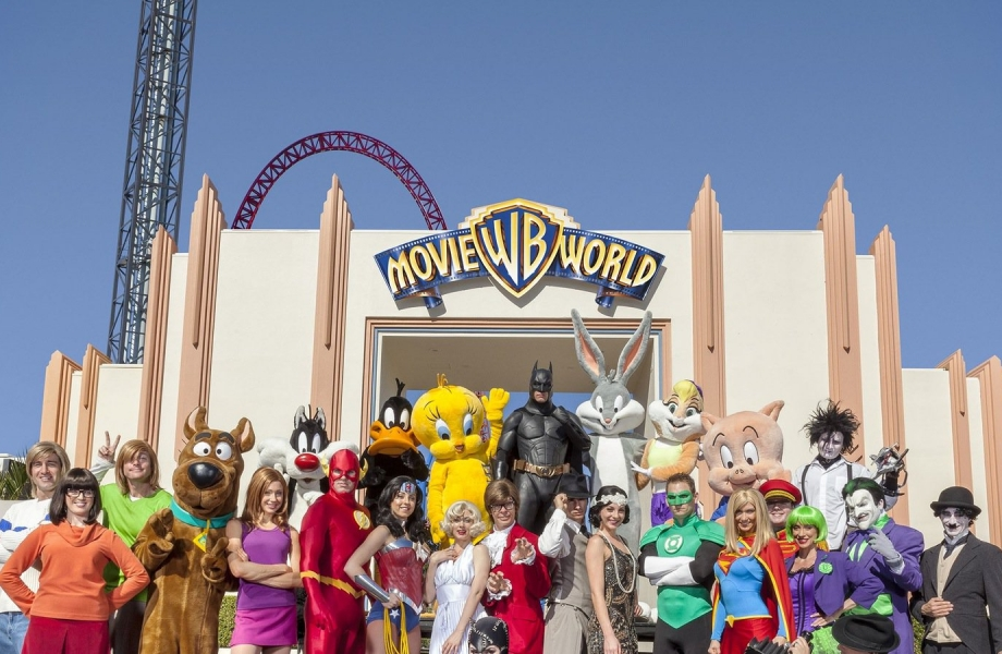 The Warner Brothers Movie World.