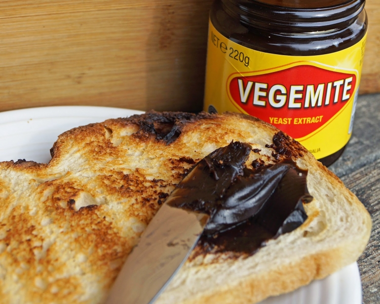 Vegemite sandwich in Australia