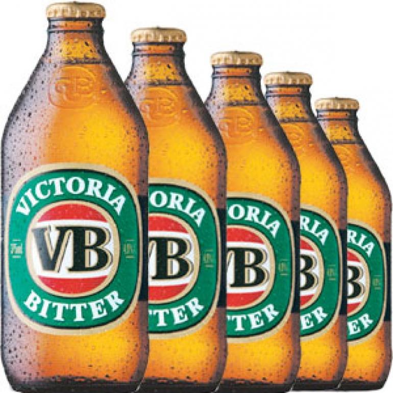 Victoria Bitter beer in Australia