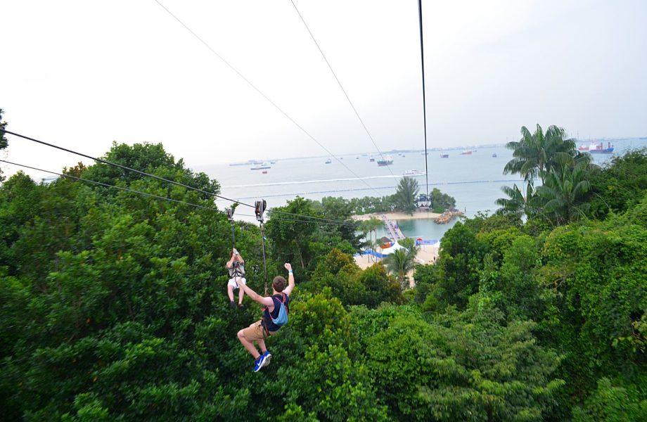 Ziplining Singapore Sentosa Island
