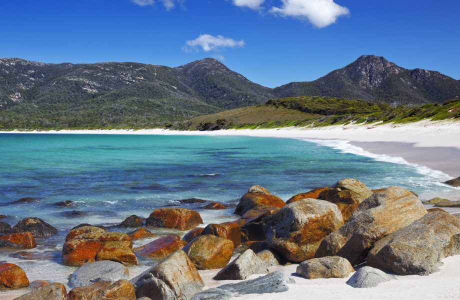 The Wineglass bay beach