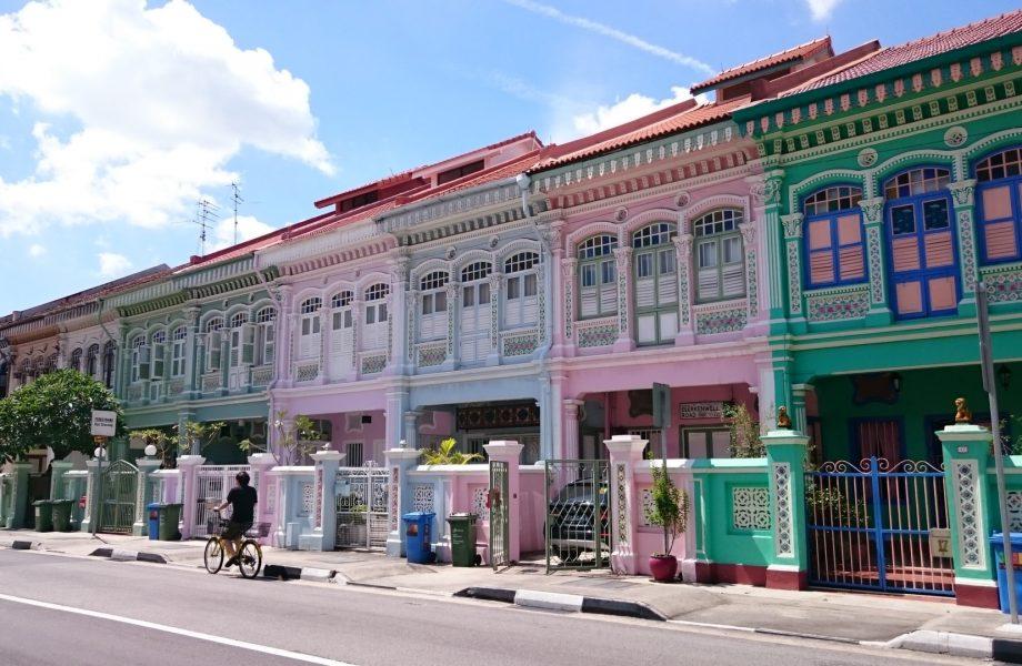 The Peranakan style houses in Joo Chiat