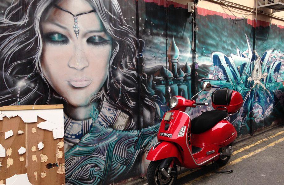 Graffiti at Haji street in Singapore
