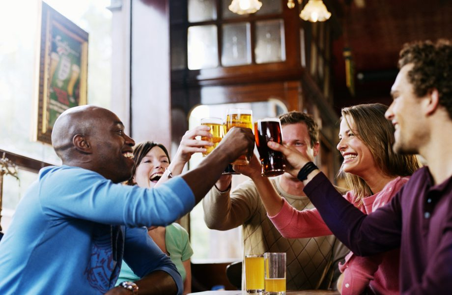 Happy hour at a bar- representative image