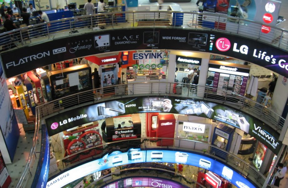 Electronics on display in Plaza Low Yat