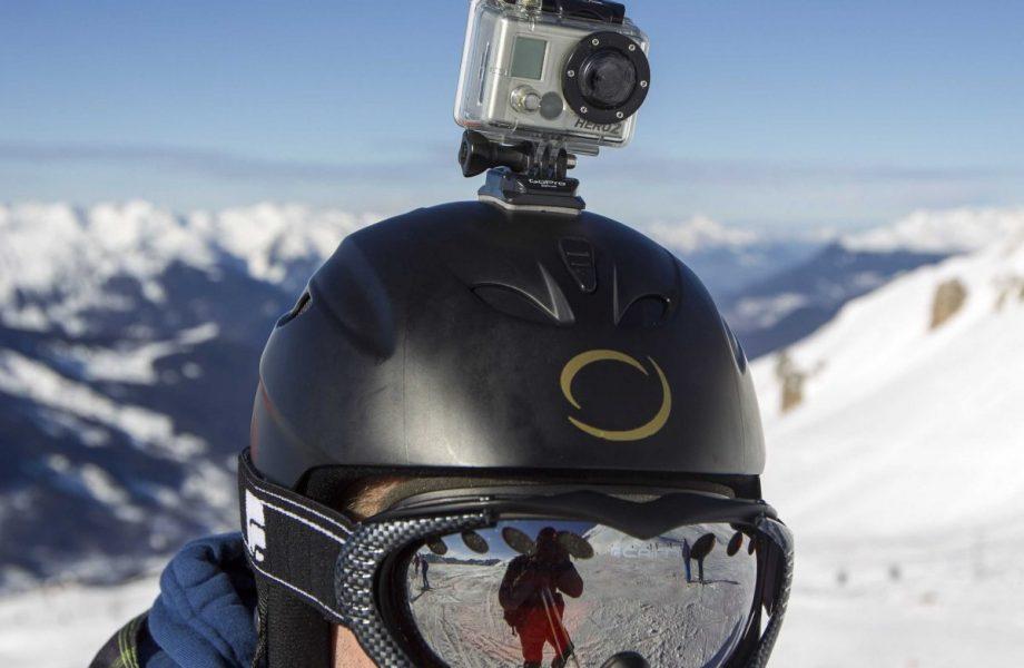 Gopro camera on helmet