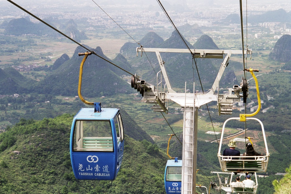 Cable car ride at Guilin