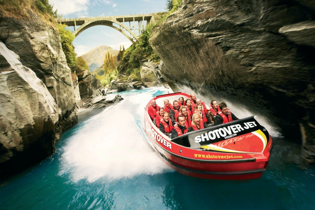 things to do in Queenstown, New Zealand, Shotover Jet