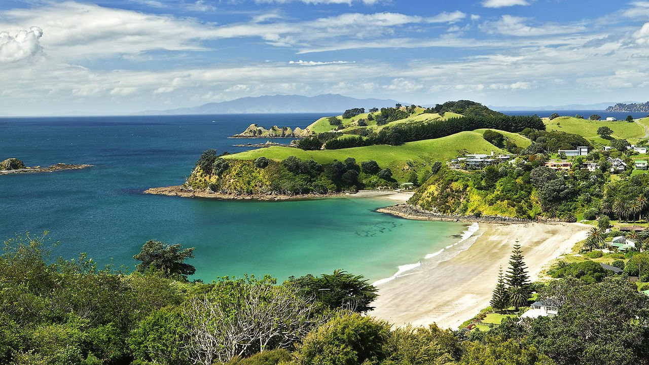 Waiheki Island for a romantic honeymoon destination in New Zealand