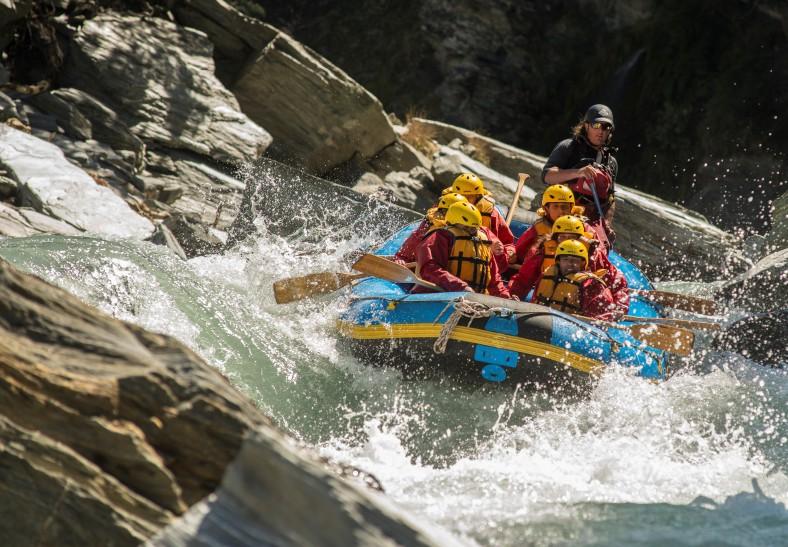 Rafting at Shotover River
