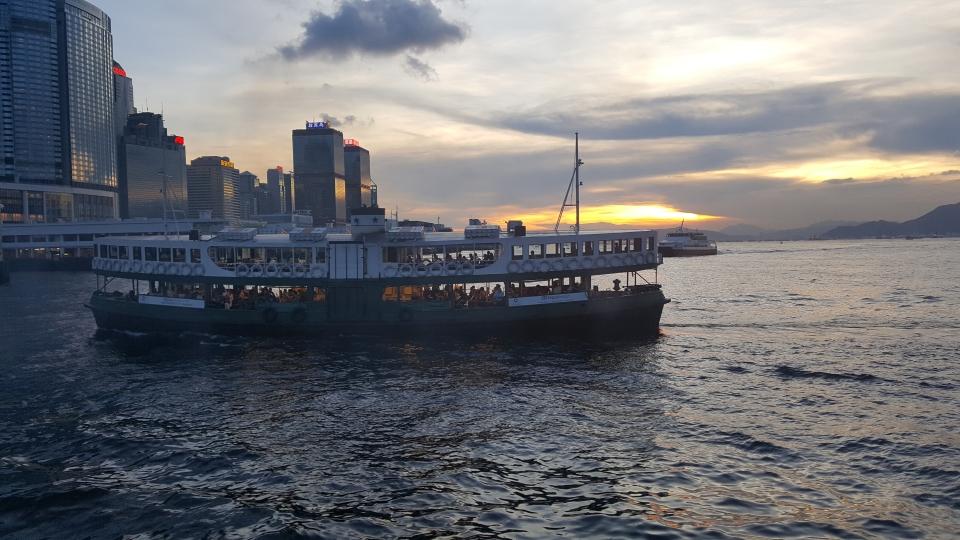 Ferry ride in Hong Kong