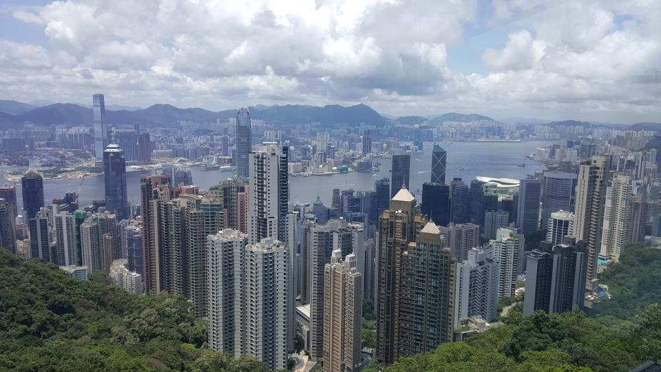 HK skyline from Victoria peak