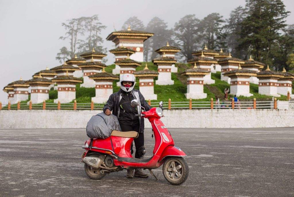 road trip to Bhutan on a vespa