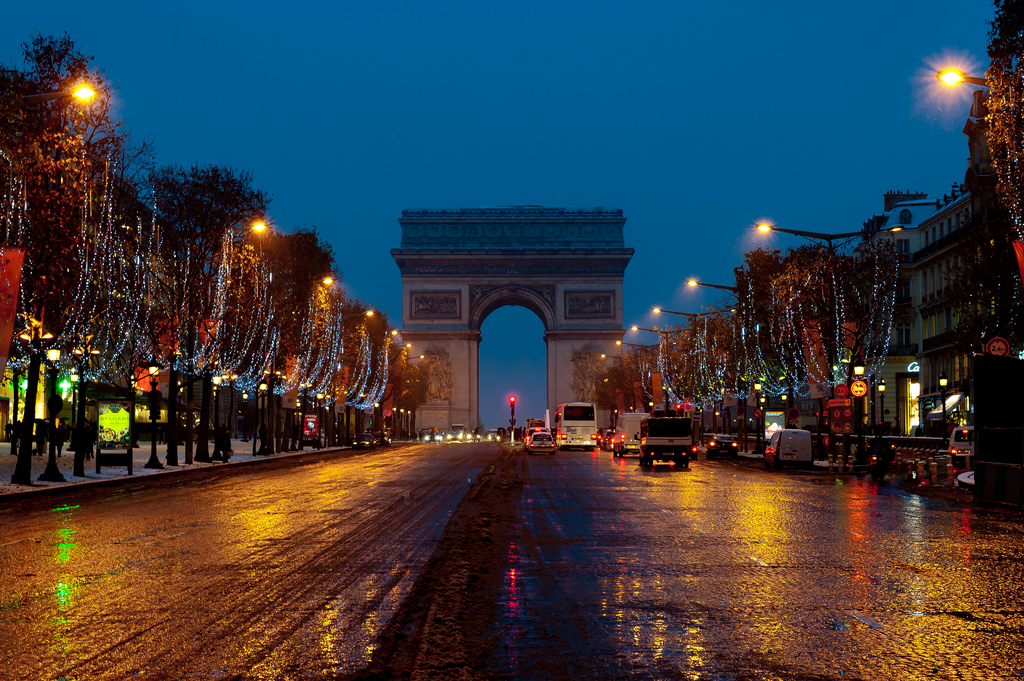 Paris in winter, Champs Elysee At Christmas