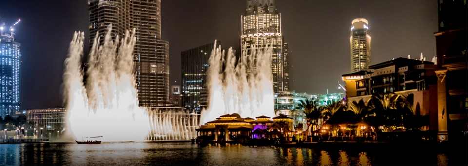 Dubai Fountain's boardwalk