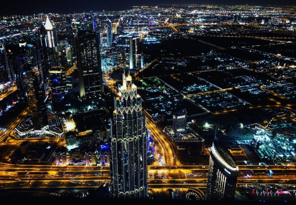 Burj Khalifa by the night